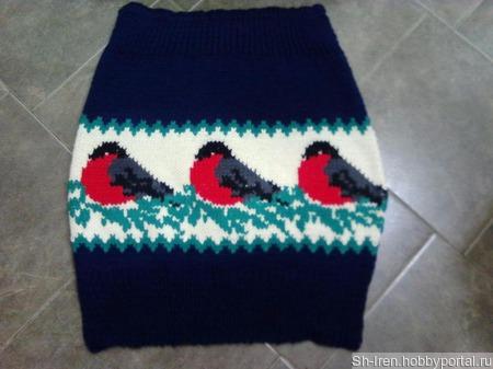 Юбка очень теплая с вышивкой по петлям. ручной работы на заказ
