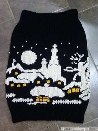 """Теплая юбка """"Зима"""" ручной работы на заказ"""