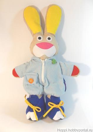 Развивающая игрушка Мишка и Зайчик ручной работы на заказ