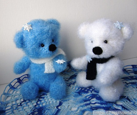 Снежные медвежата (парочка) ручной работы на заказ