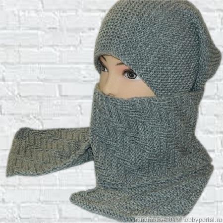 Вязаная шапка бини и шарф, вязаная шапка женская мужская ручной работы на заказ