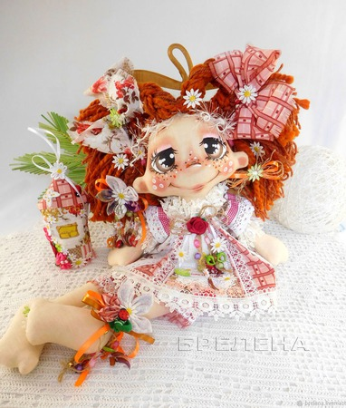 Текстильная кукла Домовушка Хозяюшка . Интерьерная кукла. ручной работы на заказ