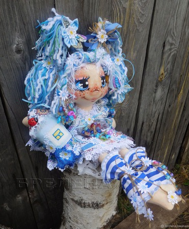Текстильная кукла Домовушка  Хозяюшка Лада. Интерьерная кукла. ручной работы на заказ