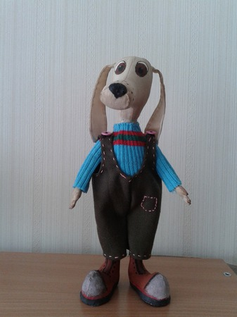 Текстильная Собачка ручной работы на заказ