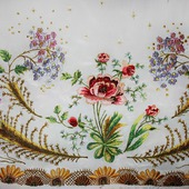 Бордюр-вышивка в стиле шебби-шик по низу изделия (любого)