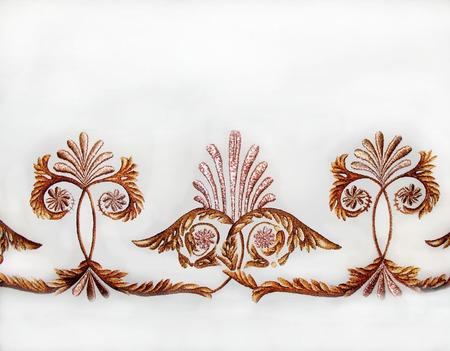 Греческие пальметты.  Вышитый орнамент. ручной работы на заказ