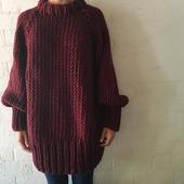 Вязаный свитер толстой вязки ручной работы в Екатеринбурге