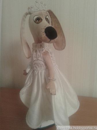 Текстильная собачка-девочка ручной работы на заказ