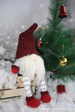 """Мастер-класс """"Рождественский гном"""" ручной работы на заказ"""