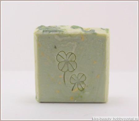 Липовый цвет. Натуральное мыло с шелком ручной работы на заказ