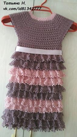 Платье с рюшами ручной работы на заказ
