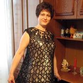 Вязанная крючком платье
