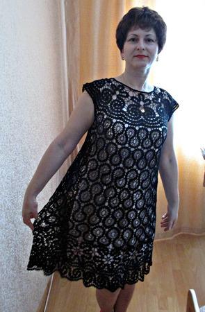 Вязанная крючком платье ручной работы на заказ