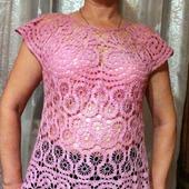 Блузка лентяя  розовая брюгге