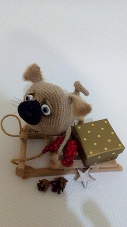 Весёлый пёсик ручной работы на заказ
