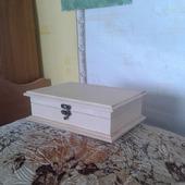 Шкатулка деревянная средняя
