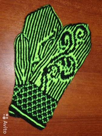 Варежки ручной вязки ручной работы на заказ