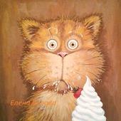 """Картина """"Сметану?! Нее, не видел!..""""))) прикольная, с котом, рыжий"""