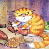 фото: Картины и панно (картина очищение кот)