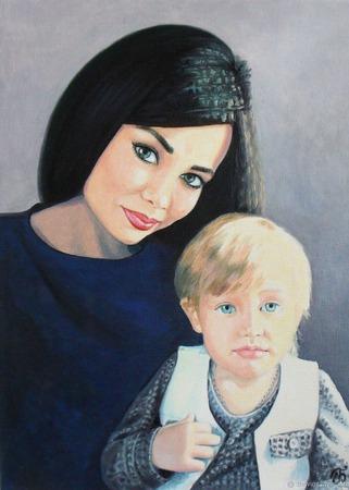 Картина портрет маслом на заказ по фото подарок на юбилей свадьбу люди ручной работы на заказ