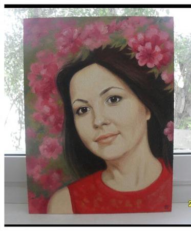 Картина портрет маслом на заказ по фотографии подарок на юбилей ручной работы на заказ
