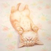 """Картина с рыжим котом Не тревожить!"""") в спальню детскую"""