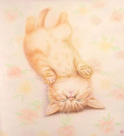 """Картина с рыжим котом Не тревожить!"""") в спальню детскую ручной работы на заказ"""