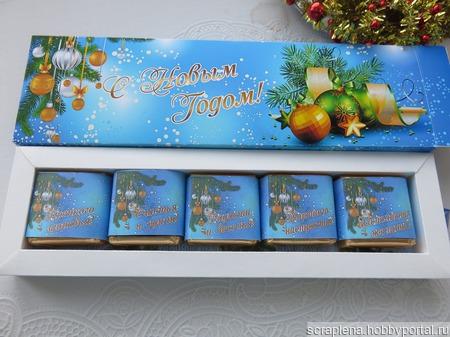 Шокобокс-пенал на 5 конфет Птичье молоко ручной работы на заказ