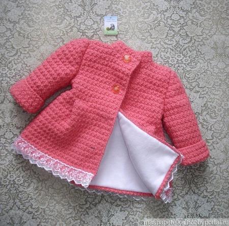 Пальто для девочки 1-2 лет ручной работы на заказ