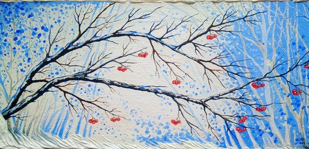 """Картина """"Оттенки снега"""" ручной работы на заказ"""