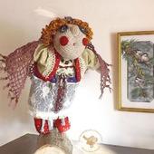 Сова - кукла интерьерная - хранительница леса