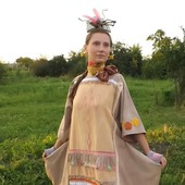 Сказочница, платье свободное, костюм карнавальный, бохо стиль