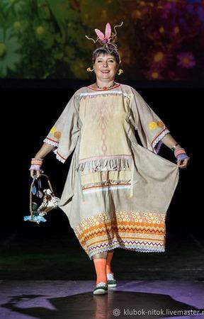 Сказочница, платье свободное, костюм карнавальный, бохо стиль ручной работы на заказ