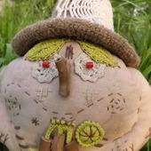 Лесной Дед-клюквенник с корзинкой - кукла интерьерная