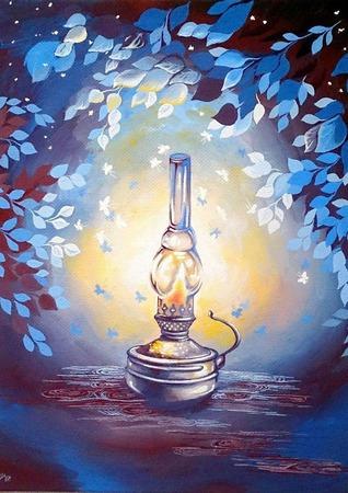"""Картина """"Старая лампа"""" ручной работы на заказ"""