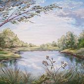 "Картина ""Старый пруд"""