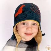 Вязаная детская шапка для мальчика, двойная шапка-шлем для мальчика Конек-горбунок