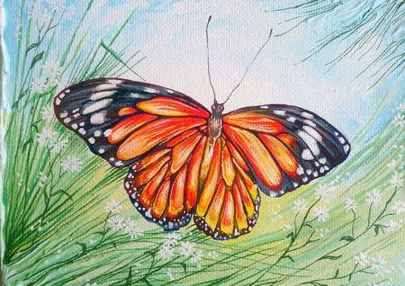 "Картина ""Бабочка"" ручной работы на заказ"