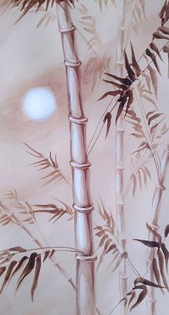 """Картина """"Бамбук"""" ручной работы на заказ"""