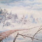 """Картина """"Сквозь туман"""""""