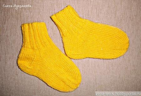 Детские носочки ручной вязки ручной работы на заказ