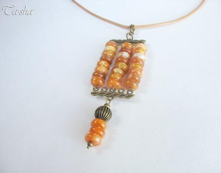 """Кулон подвеска из янтаря """"Медовый аромат"""" желтый оранжевый ручной работы на заказ"""