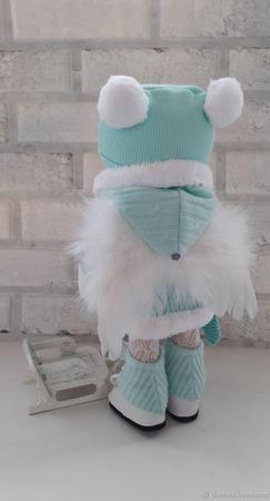 Кукла текстильная Зимний ангел ручной работы на заказ