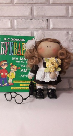 Кукла текстильная Школьница ручной работы на заказ