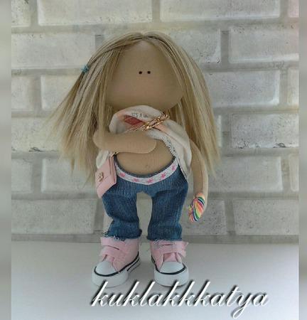 """Кукла текстильная """"В ожидании дочки"""" ручной работы на заказ"""