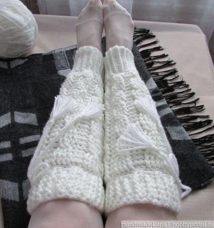 Гетры вязаные Теплая зима ручной работы на заказ