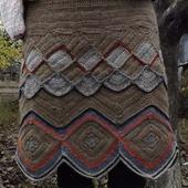 Вязаная шерстяная юбка. Юбка из верблюжьей пряжи. Теплая юбка крючок