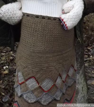 Вязаная шерстяная юбка. Юбка из верблюжьей пряжи. Теплая юбка крючок ручной работы на заказ