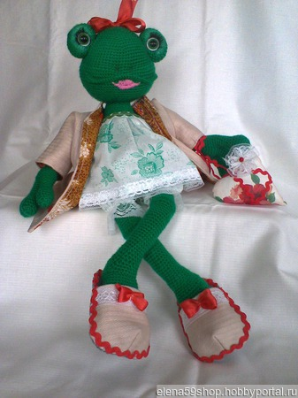 Лягушка Клава ручной работы на заказ