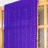 Палантин вязаный крючком Фиолет